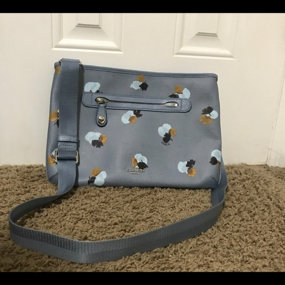 Coach Handbags - Coach Crossbody Light Blue Leather Shoulder Bag